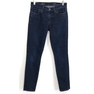 J Crew Size 27 Blue Toothpick Ankle Skinny Jeans